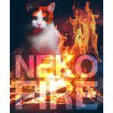 ネコファイアー、猫、炎、火