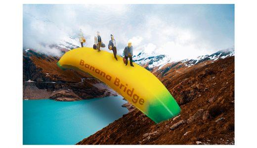 おしゃれ可愛いデザイン「バナナの橋」完成です